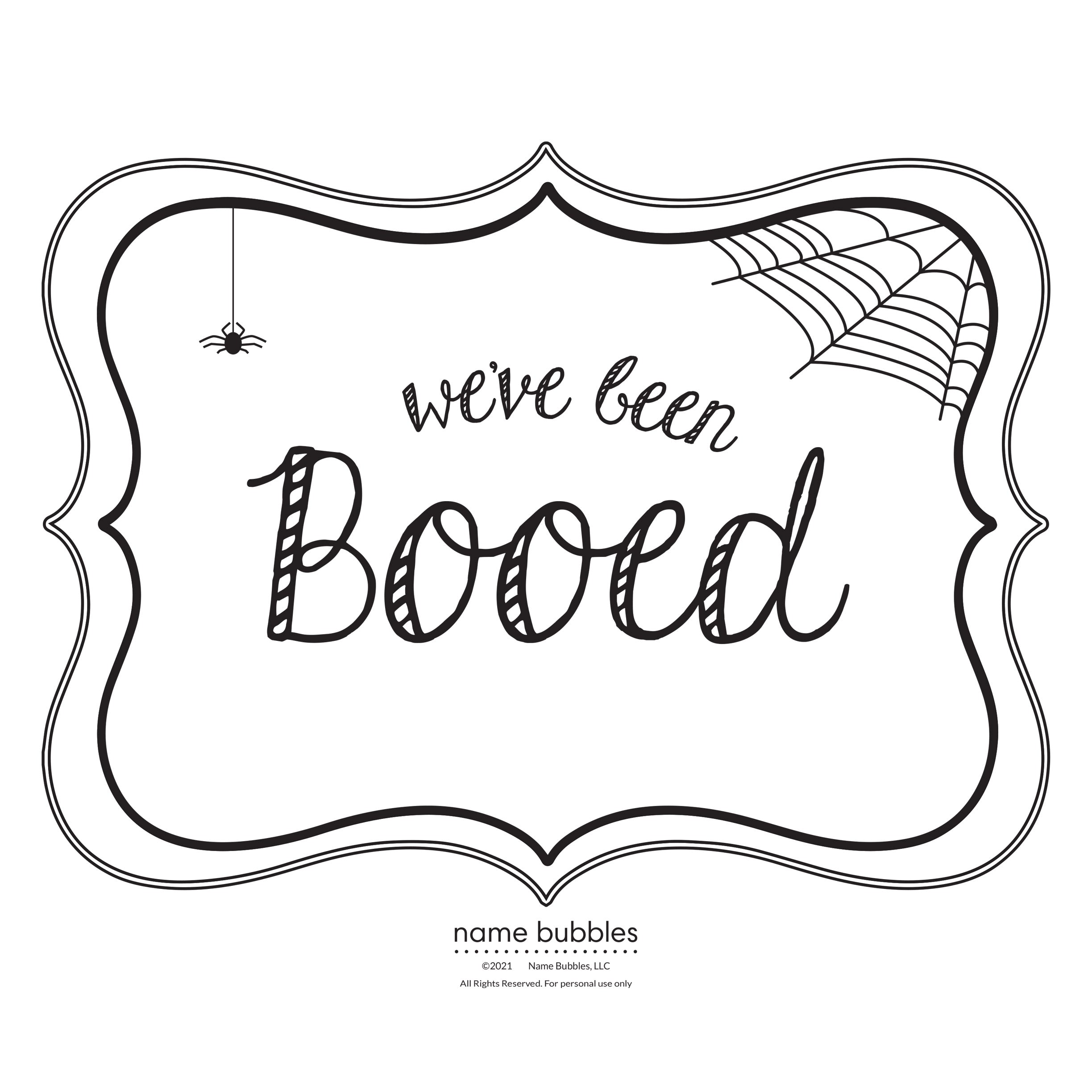 We've Been Booed - Name Bubbles Blog Image