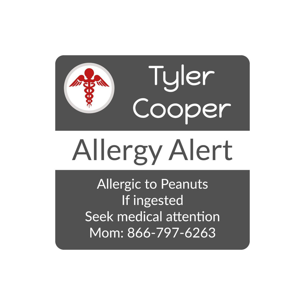 personalized allergy labels