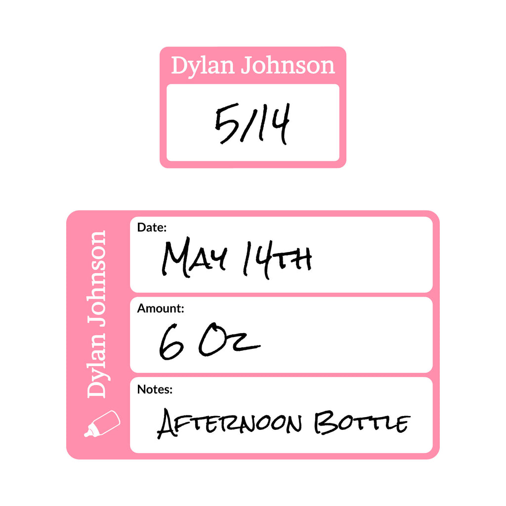 date labels for baby bottles