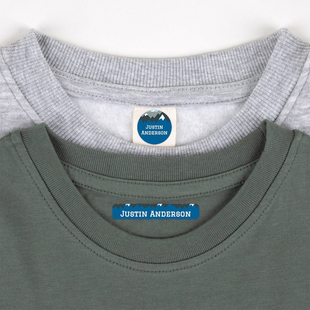 clothing name tags - _Mountain Top_Blue