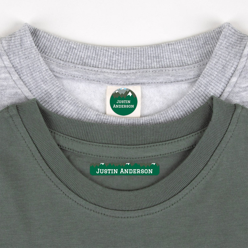 clothing name tags - _Mountain Top_Green