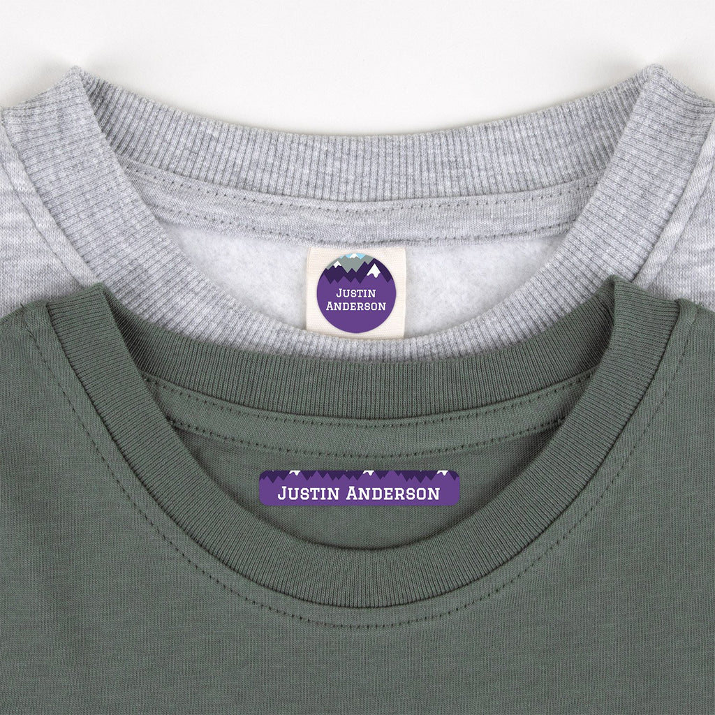 clothing name tags - _Mountain Top_Purple