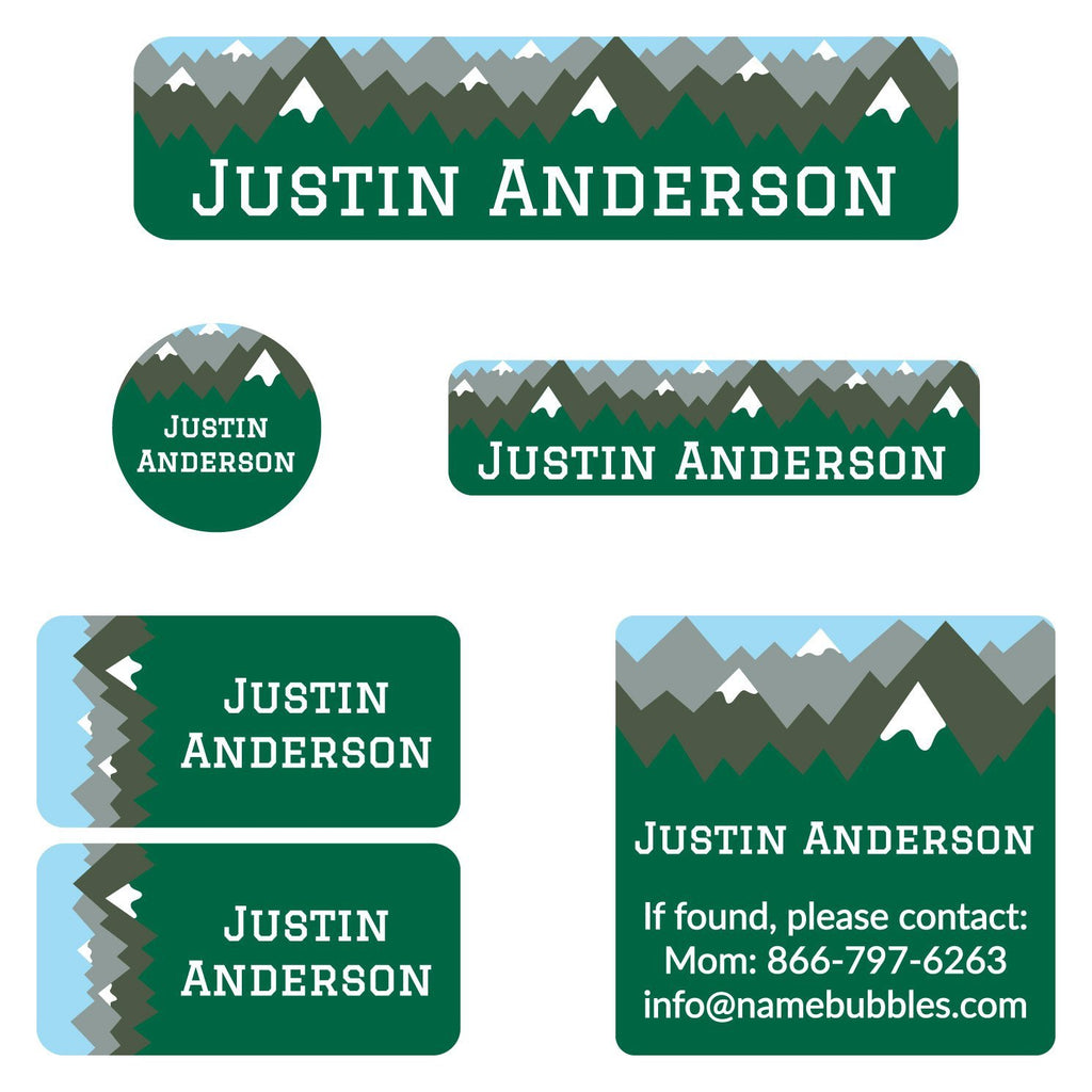 custom kids camp labels
