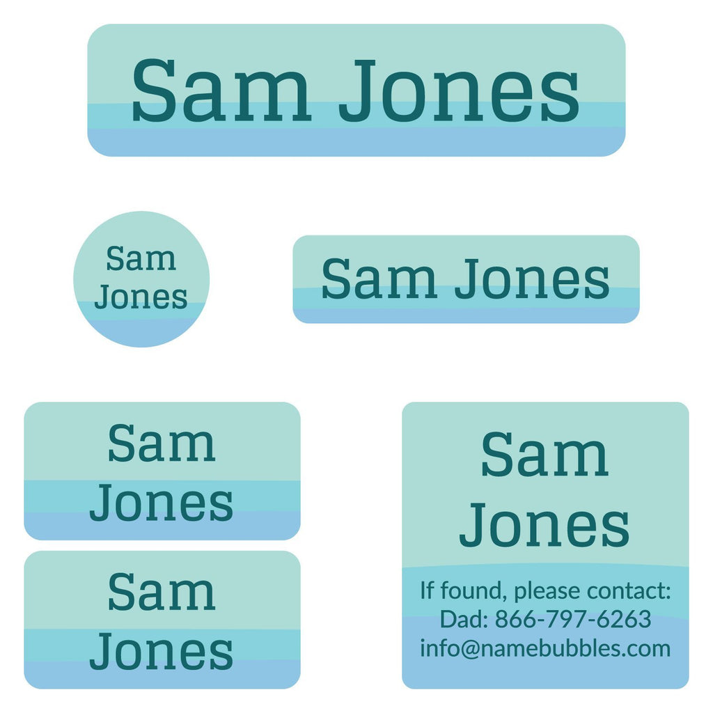 personalized daycamp labels