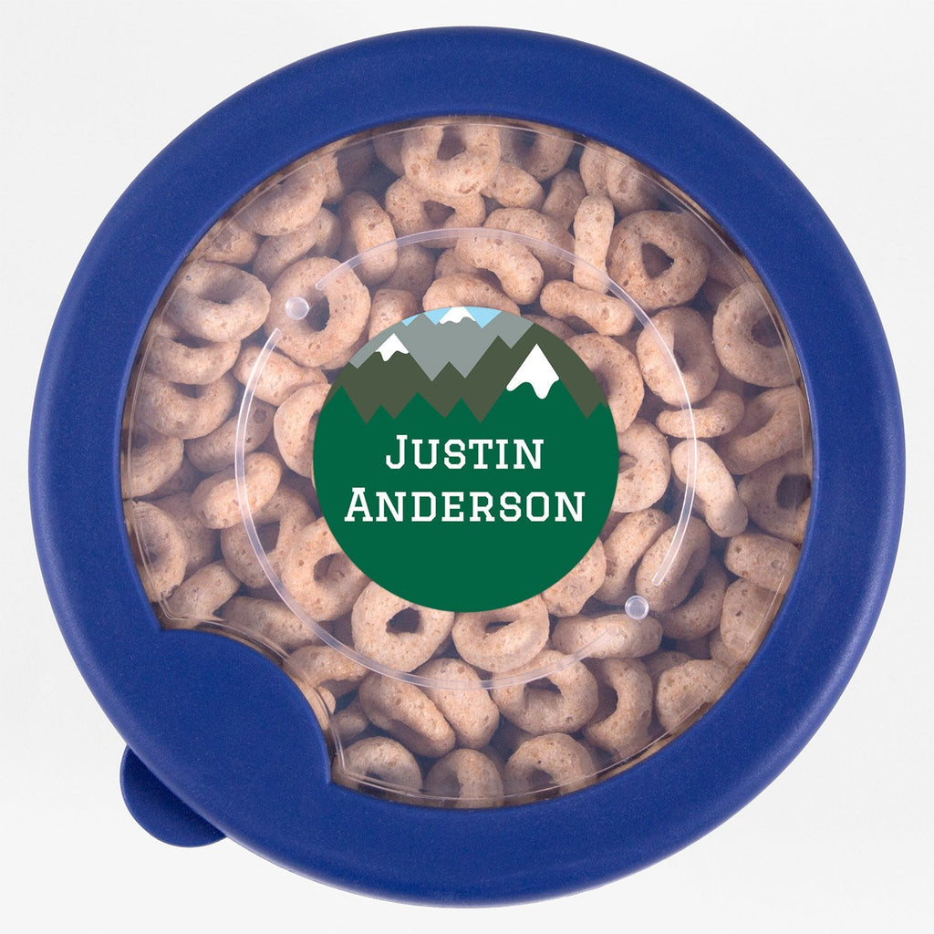 dishwasher safe stickers - _Mountain Top_Green \ Circle
