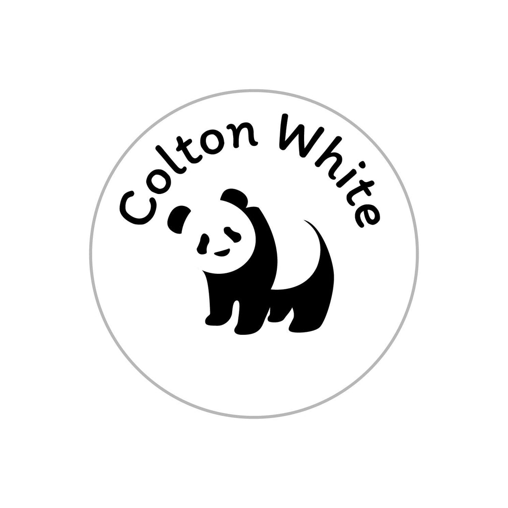 customized stickers with panda design
