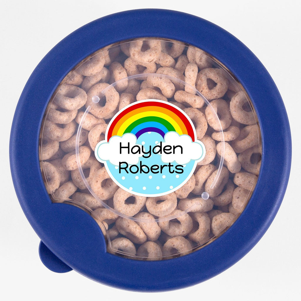 personalized rainbow name sticker - Circle