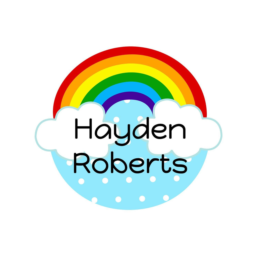 personalized rainbow name stickers