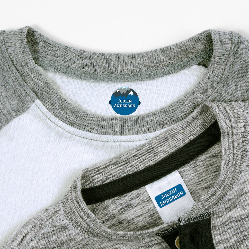 personalized clothing labels - _Mountain Top_Blue