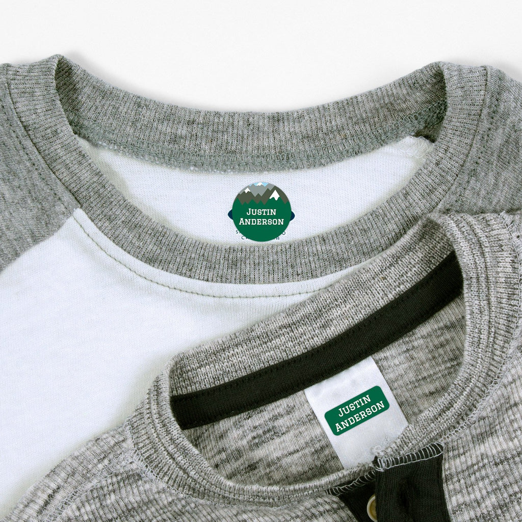 personalized clothing labels - _Mountain Top_Green