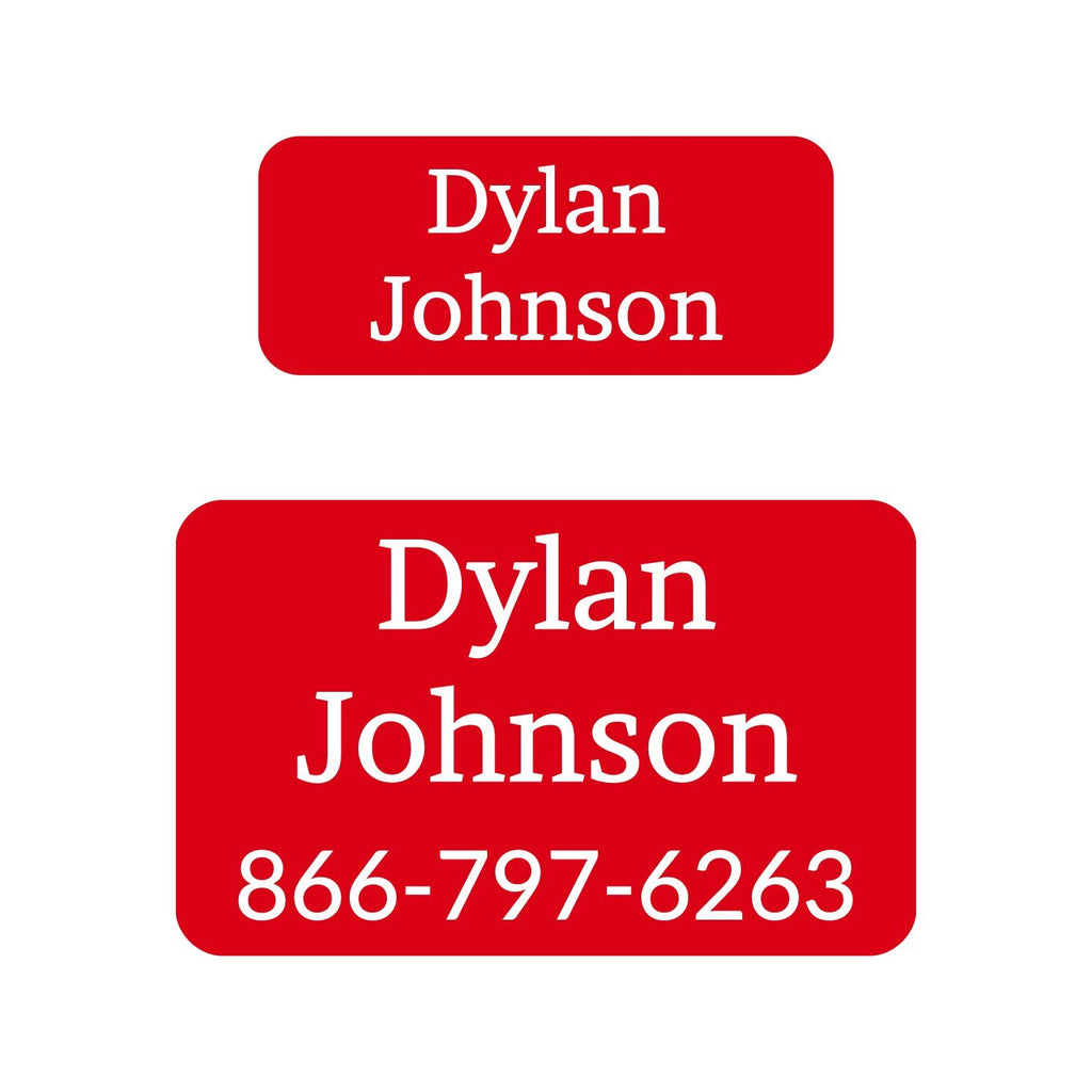 personalized college labels