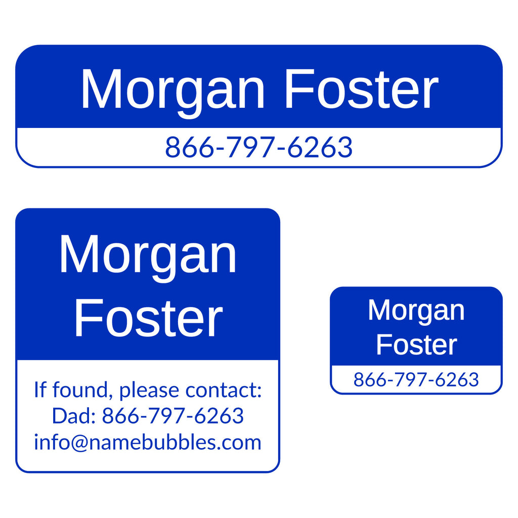 contact information personalized labels
