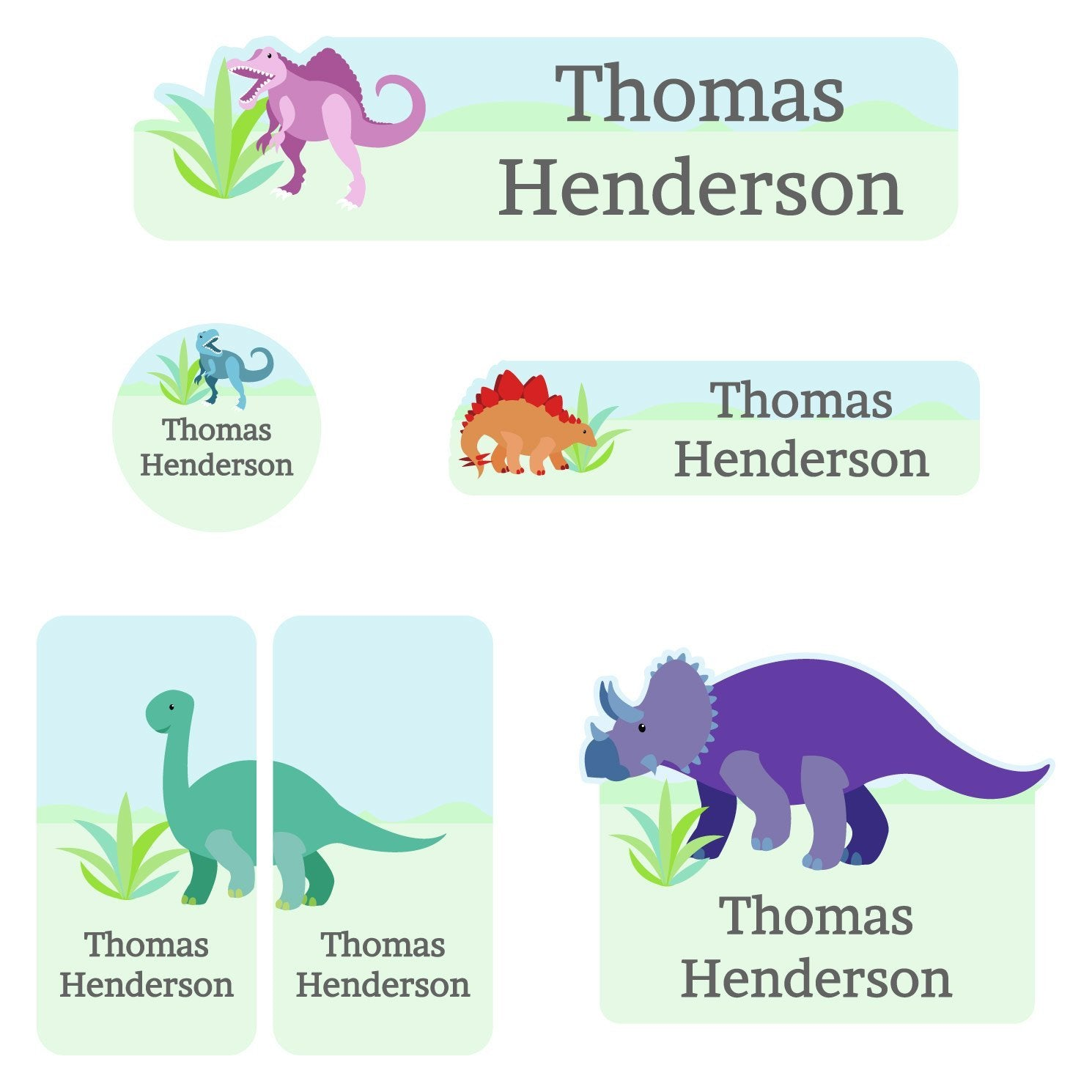 custom dinosaur stickers for daycare