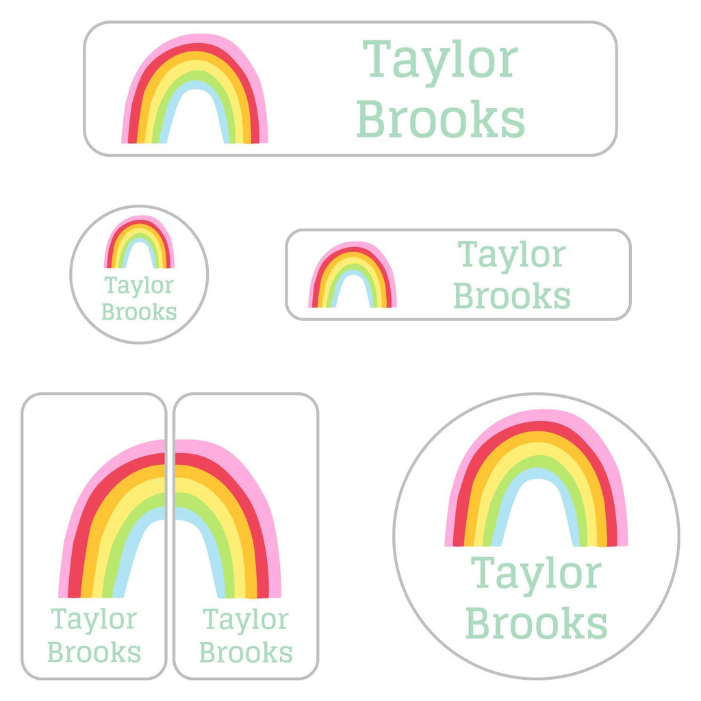 personalized rainbow stickers for daycare