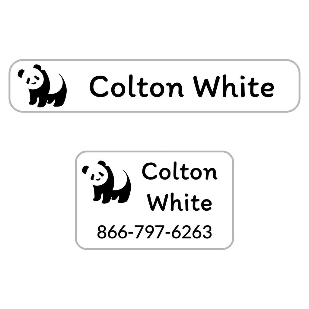 laundry safe kids labels with panda design