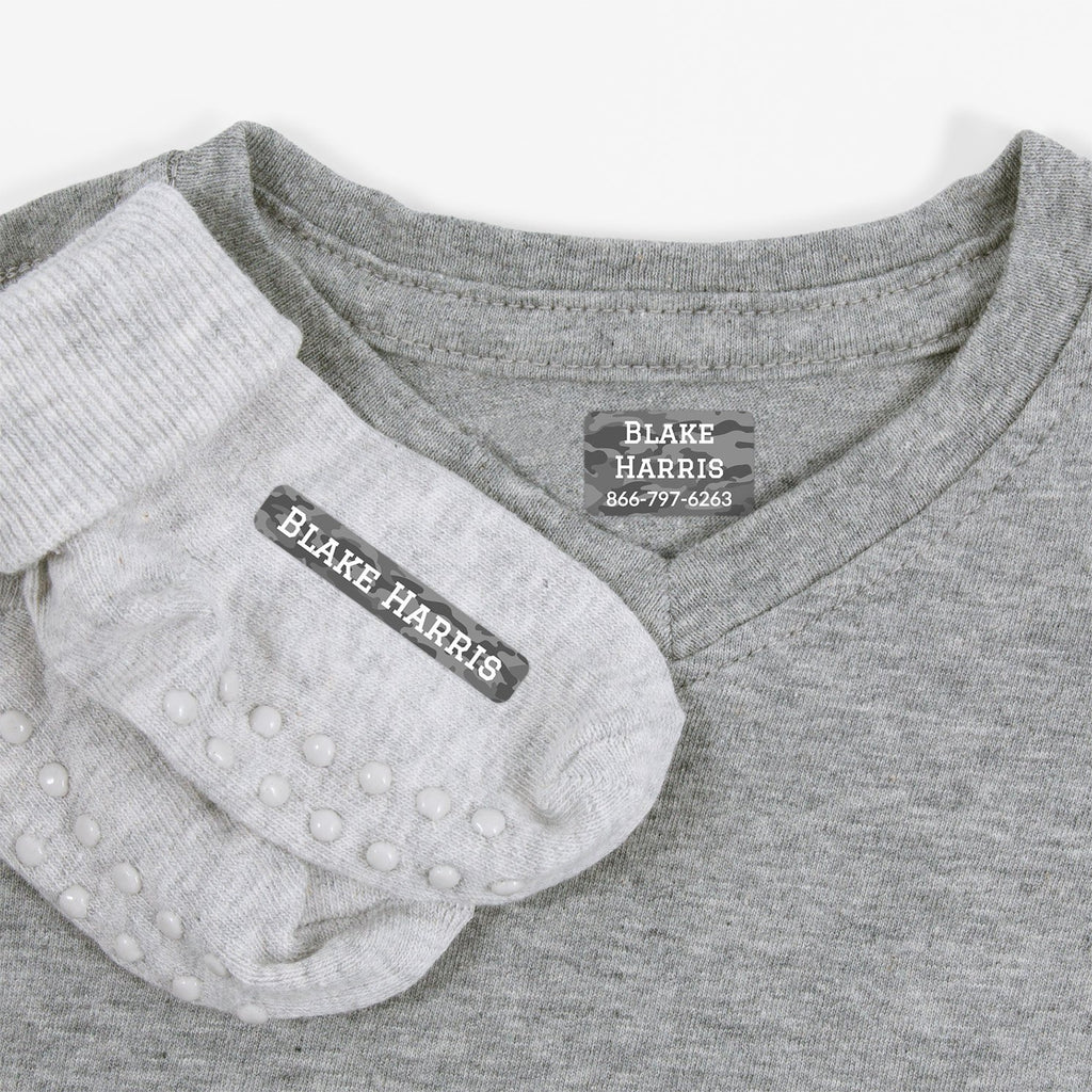 laundry safe labels for kids - _Camo_Gray