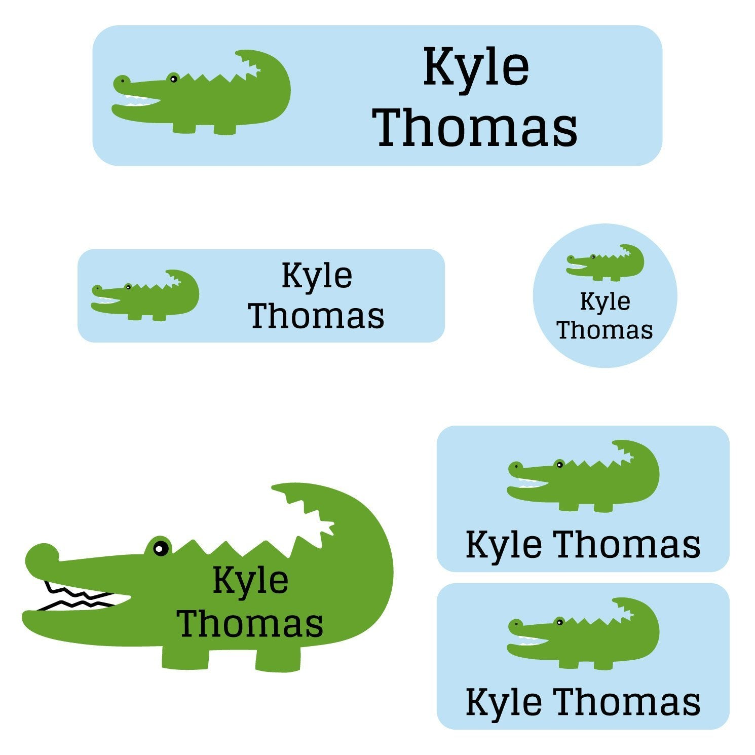 personalized alligator name labels