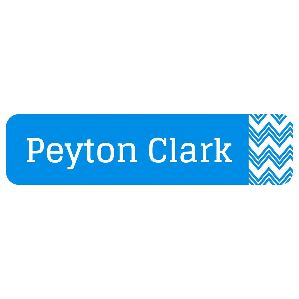 chevron personalized name labels
