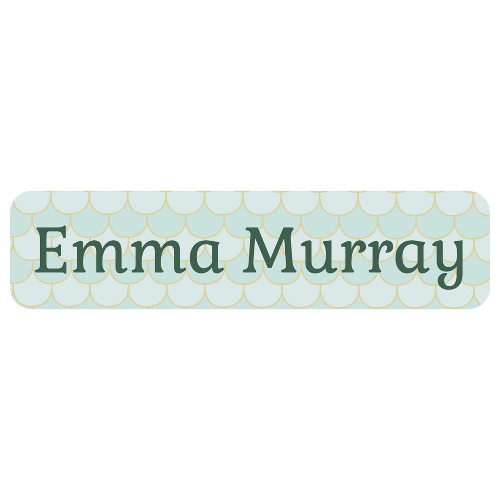 mermaid waterproof labels