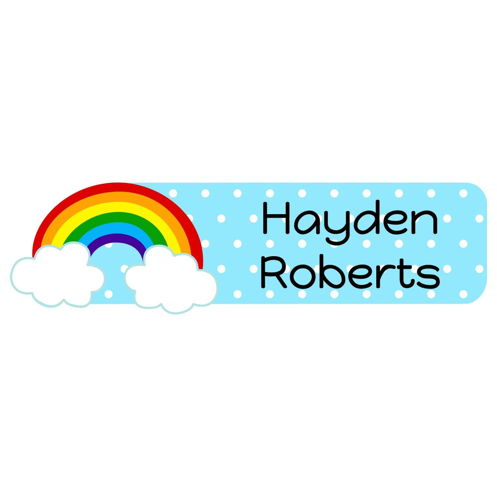 rainbow labels for kids