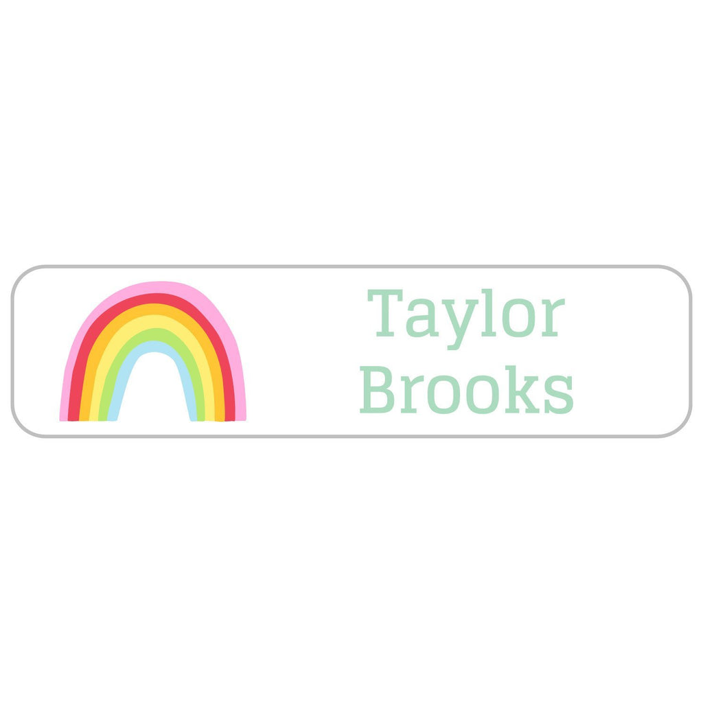 personalized rainbow labels