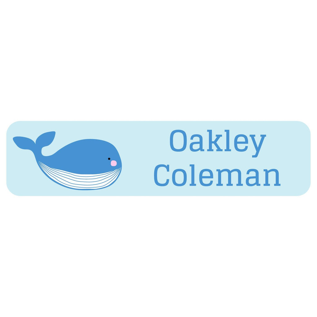 waterproof whale name stickers