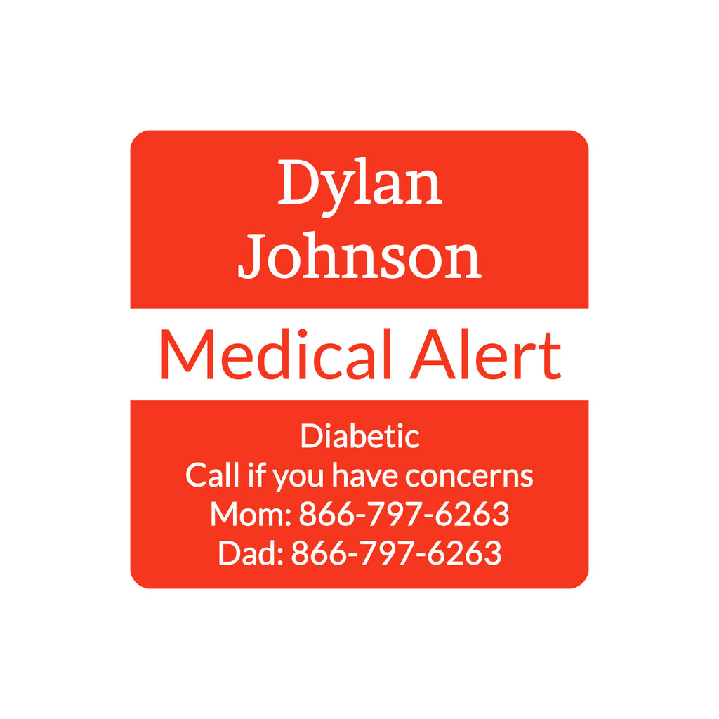 personalized medical alert labels