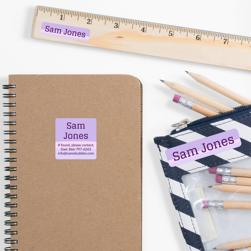 press and stick name labels - _Ombre_Purple