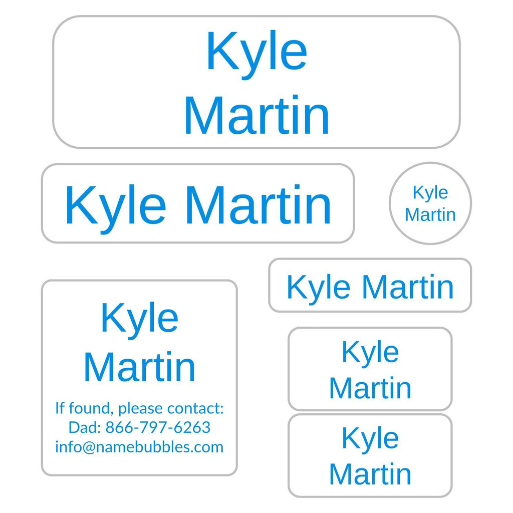 kids name labels for school