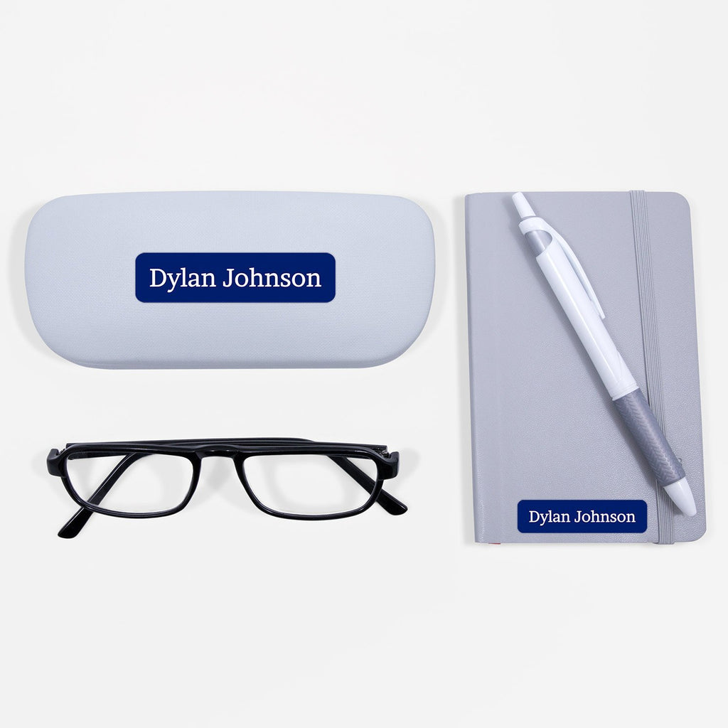 custom name stickers - Indigo