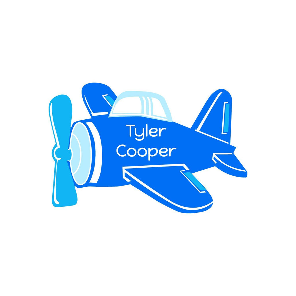 airplane name stickers