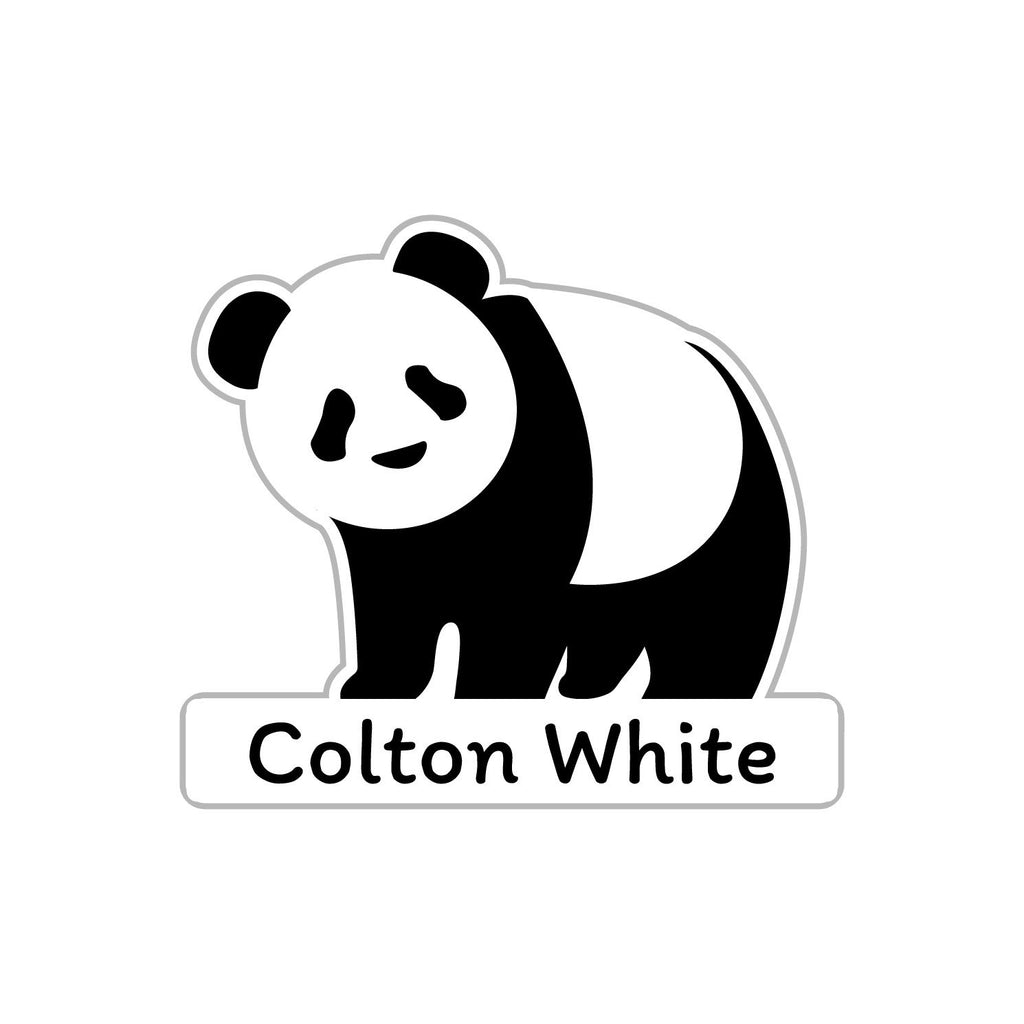 personalized stickers with panda design