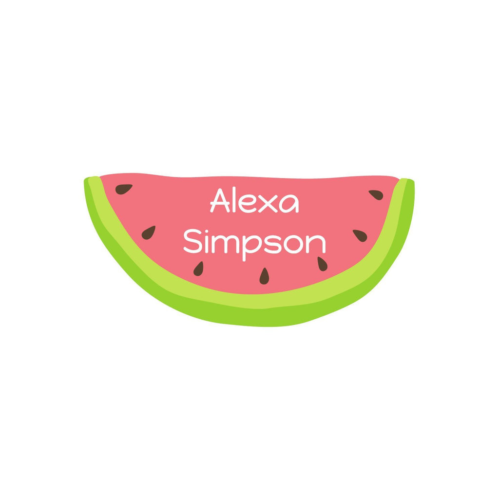 watermelon name stickers