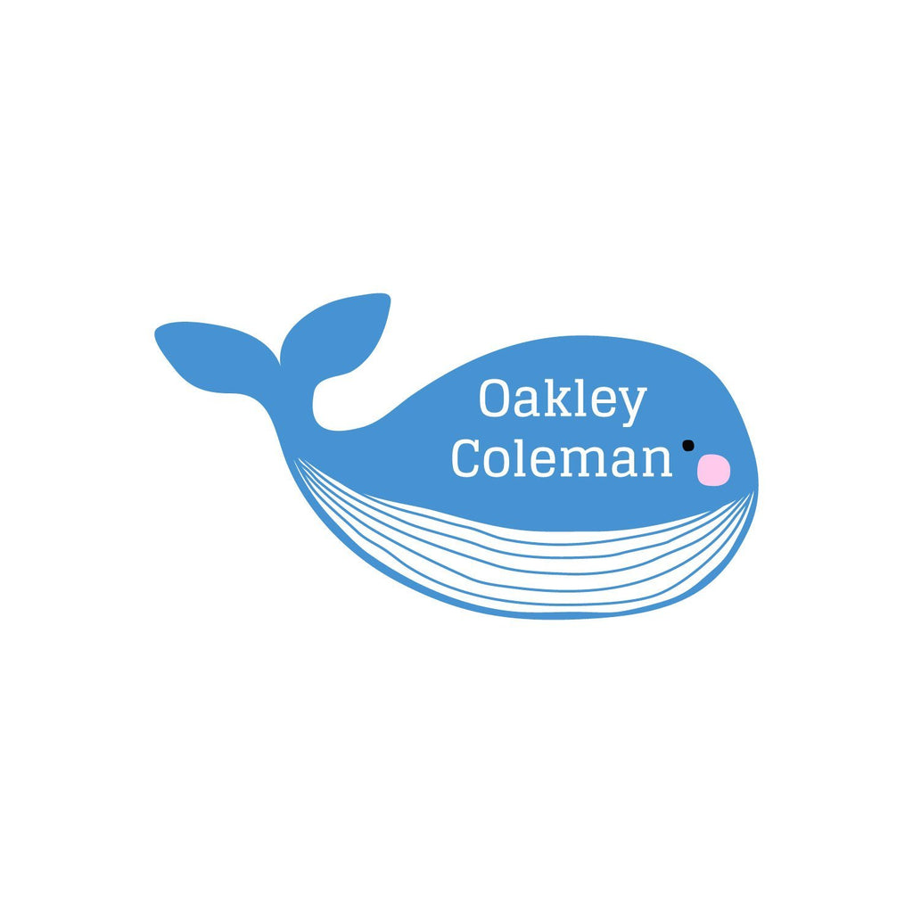 whale name tag stickers