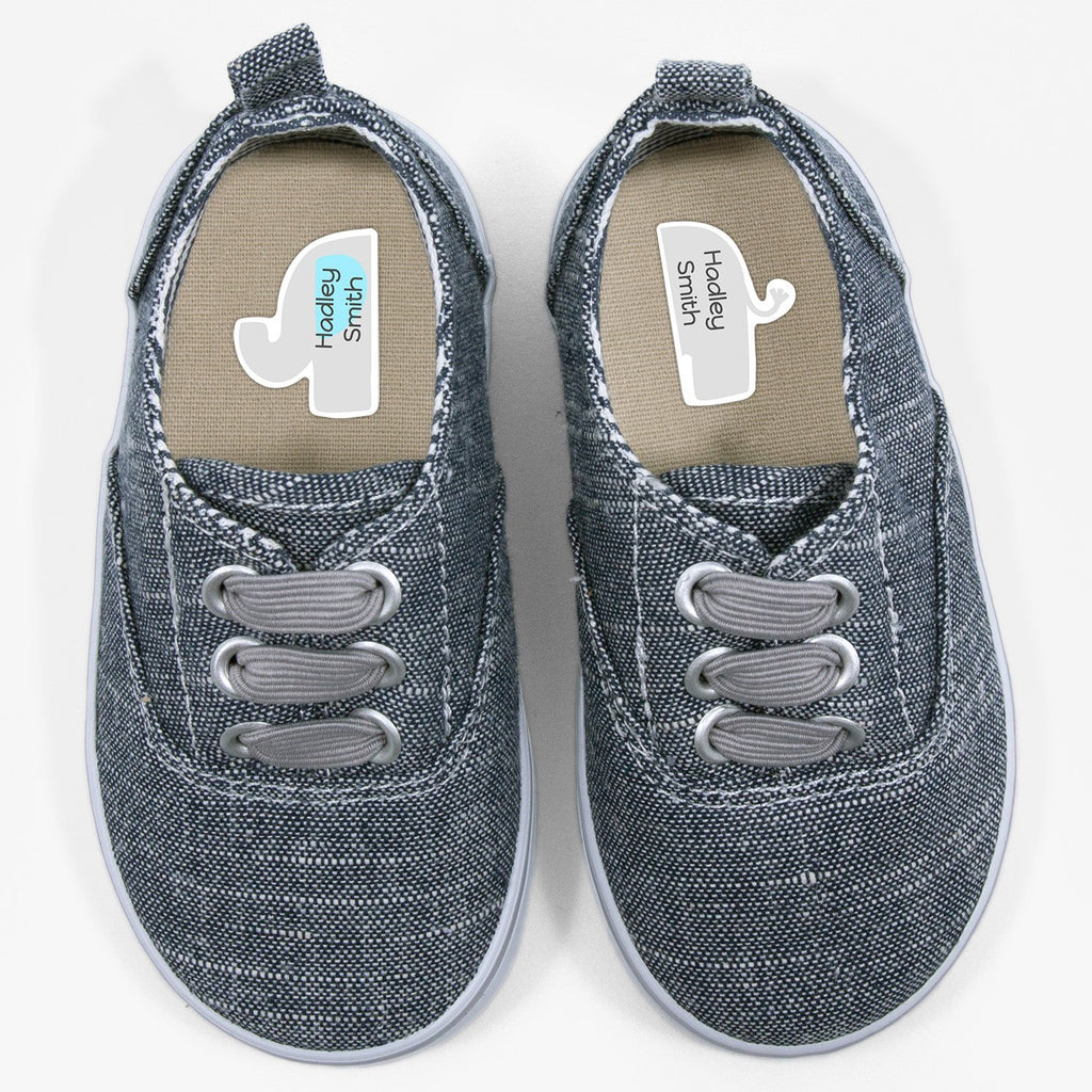 personalized shoe labels - Light Blue