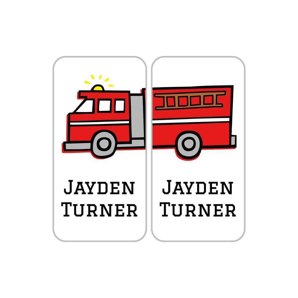 fire truck name labels