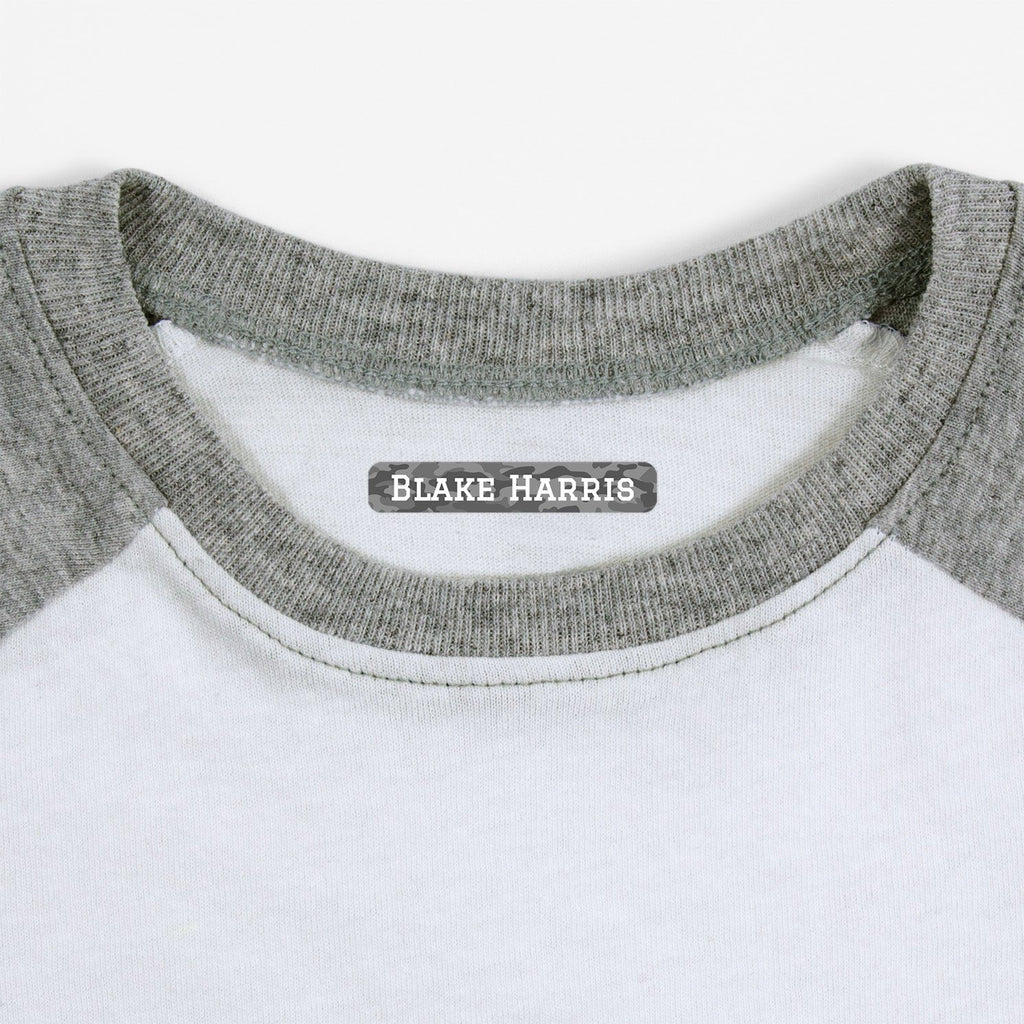 personalized labels for socks - _Camo_Gray / Slim Rectangle