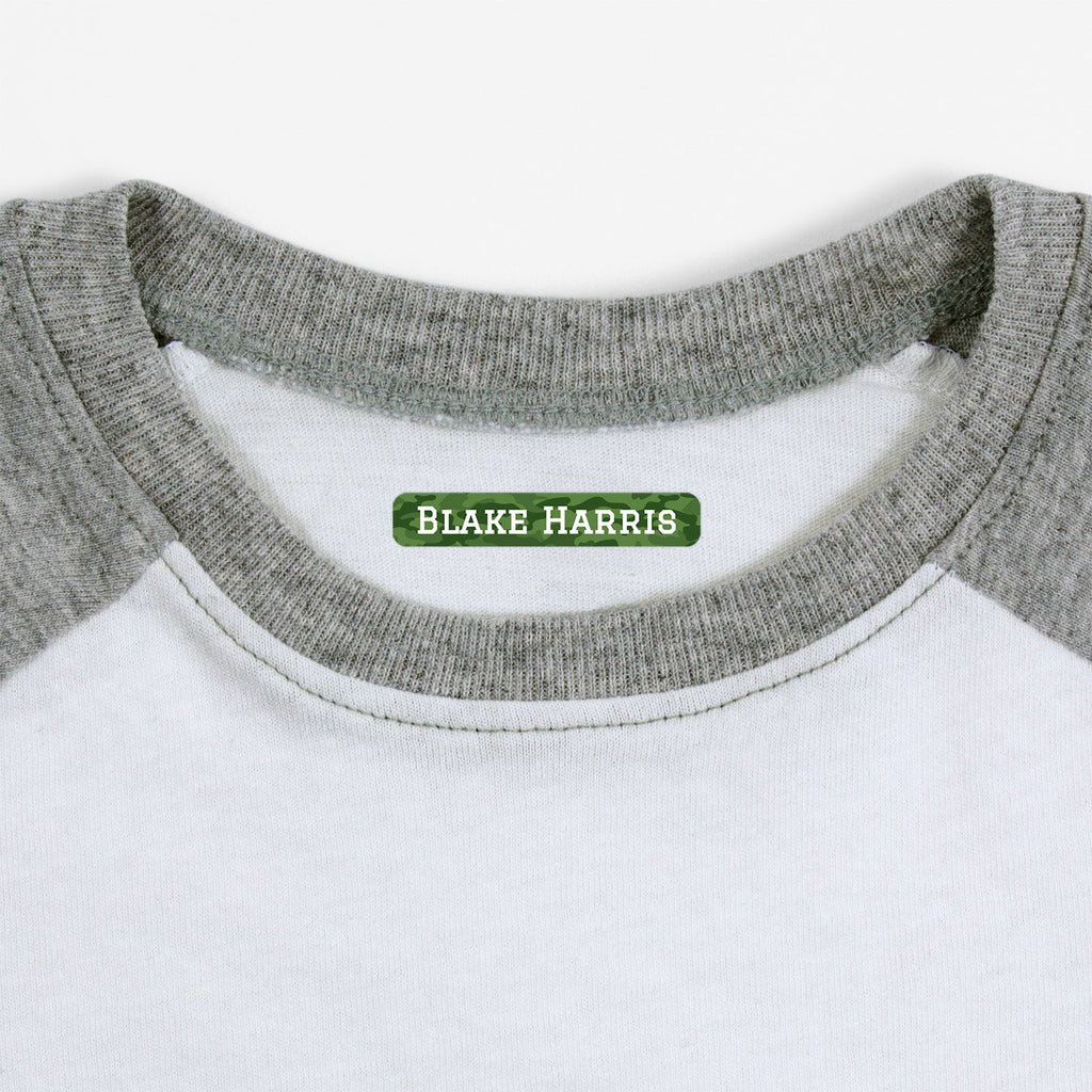 personalized labels for socks - _Camo_Green / Slim Rectangle
