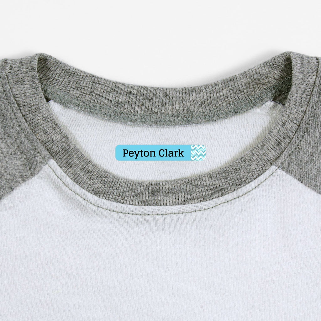 personalized clothing labels - Baby Blue / Slim Rectangle
