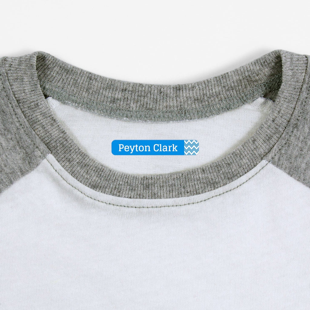 personalized clothing labels - Hawaiian Ocean / Slim Rectangle