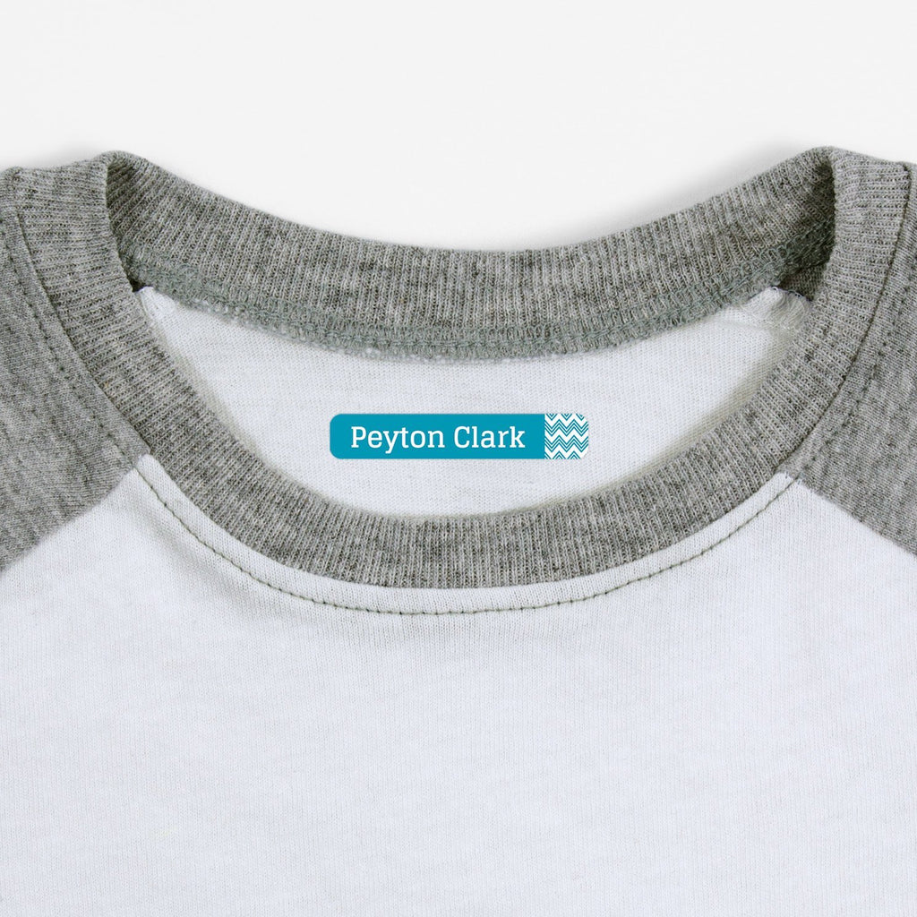 personalized clothing labels - Turquoise / Slim Rectangle