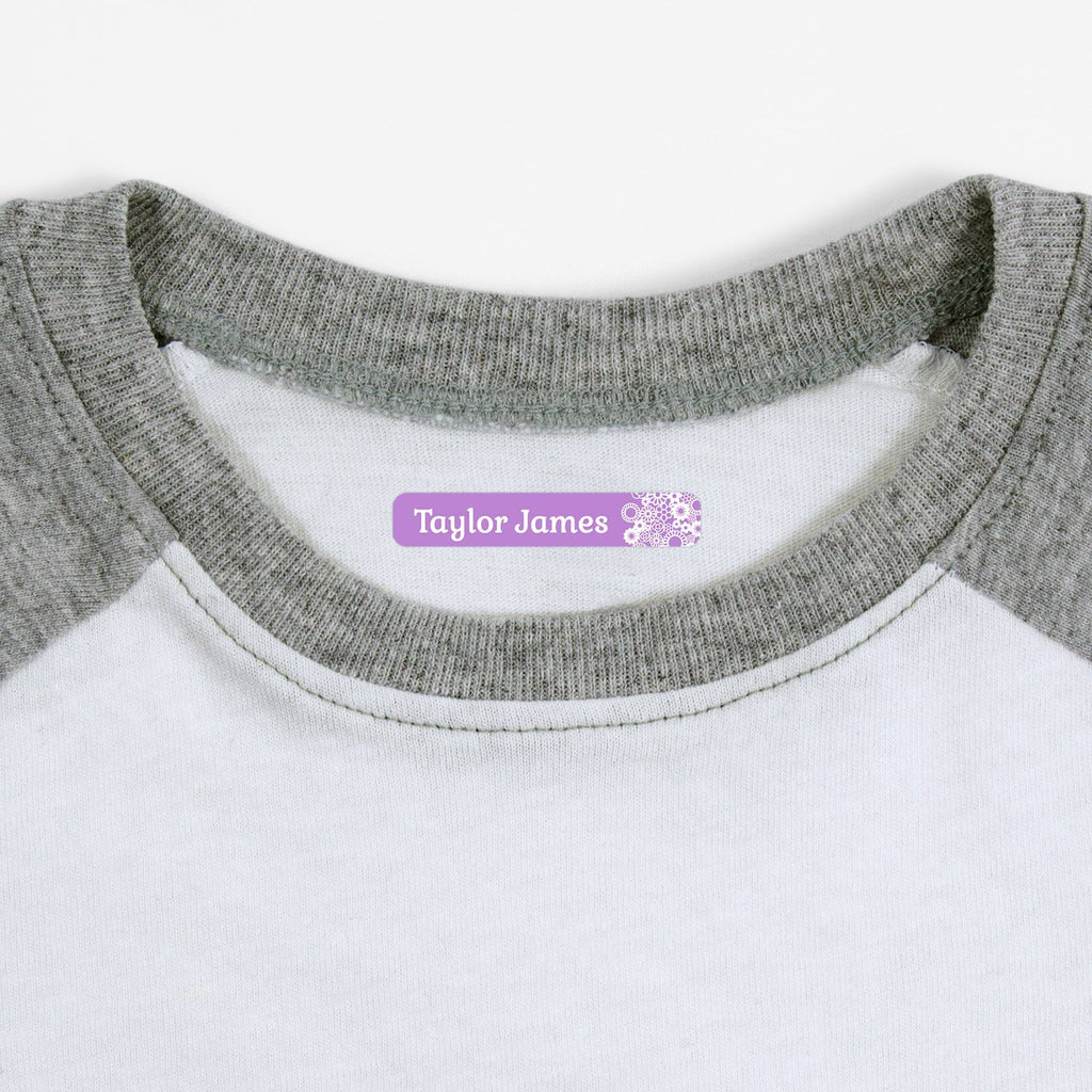 custom iron on labels - Lavender / Slim Rectangle