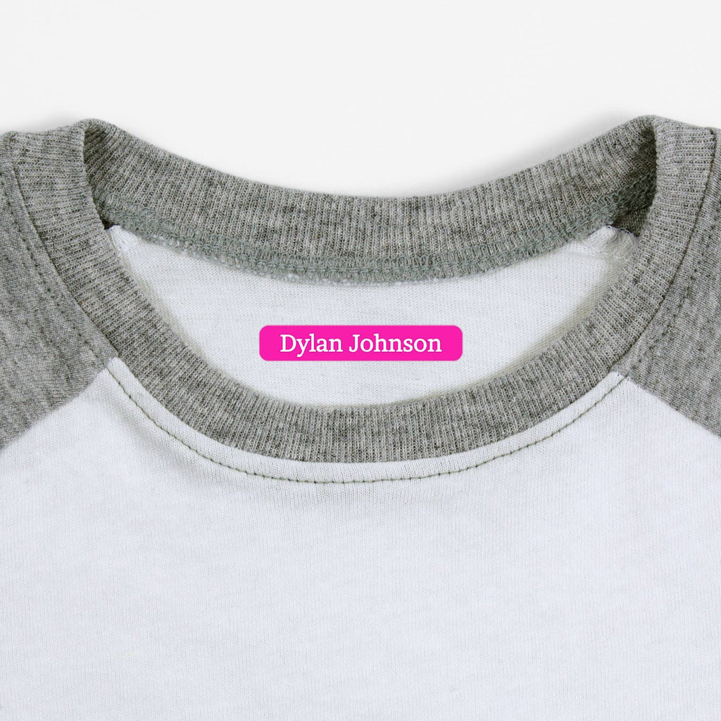 name labels for clothing - Hot Pink / Slim Rectangle