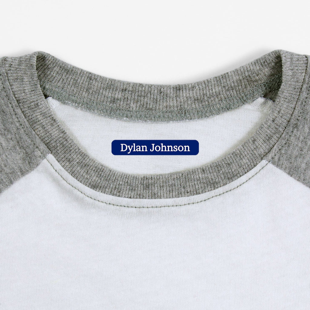 name labels for clothing - Indigo / Slim Rectangle