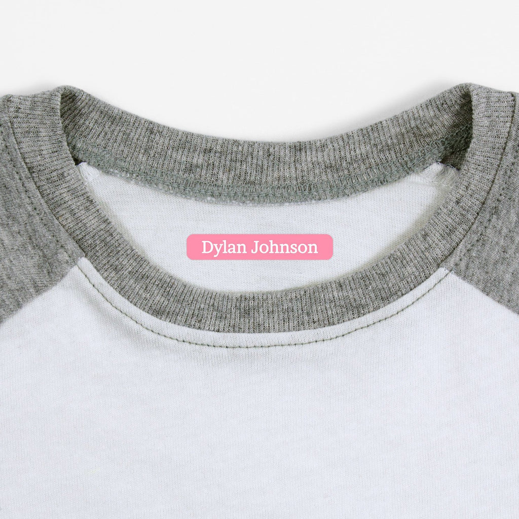 name labels for clothing - Pink Grapefruit / Slim Rectangle