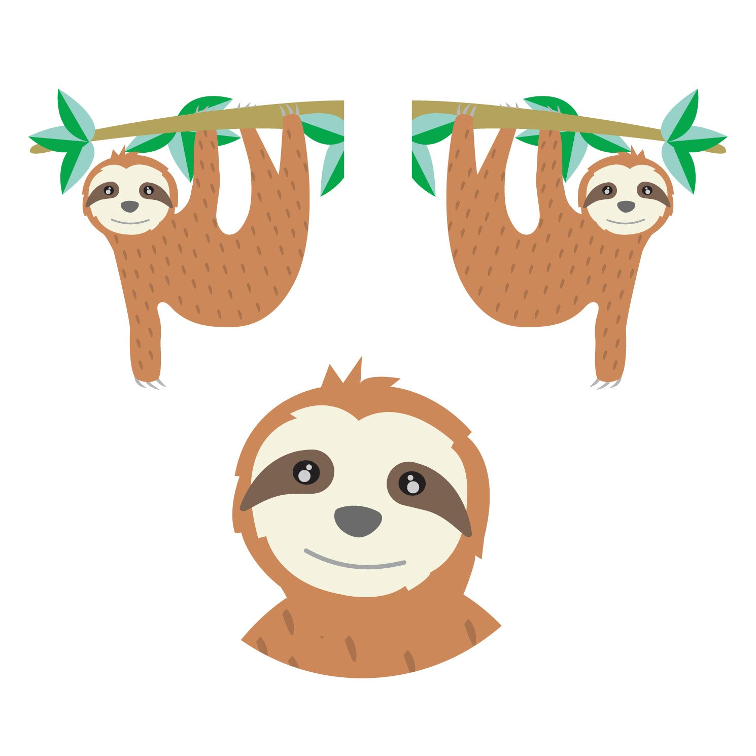 sloth waterproof stickers