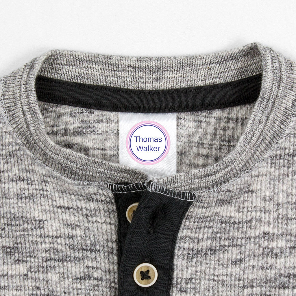 labels for kids clothes - Lilac Love / Circle