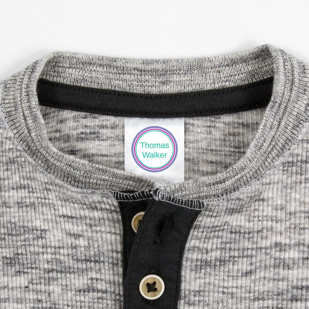 labels for kids clothes - Pacific Surf / Circle