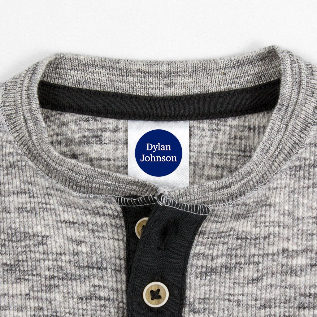 name tags for clothing - Indigo / Circle