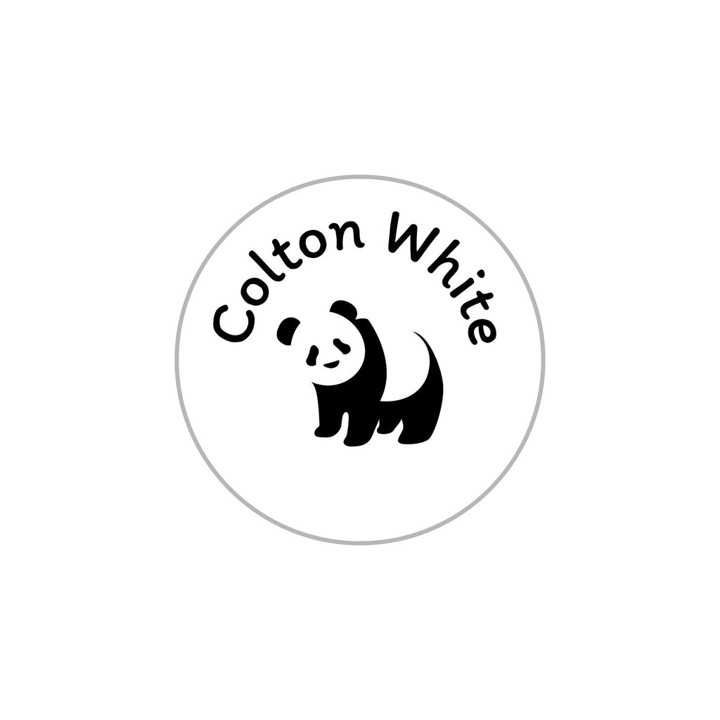 kids clothing labels with panda design